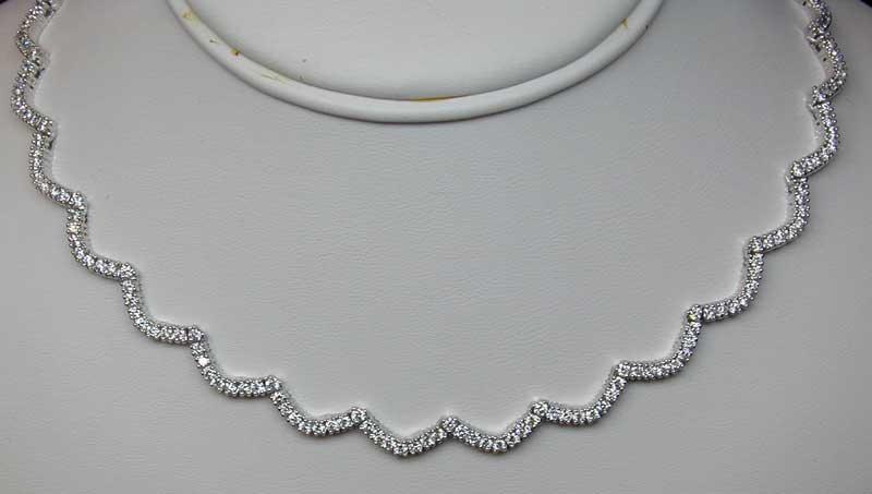 M263 - Scallop Diamond Necklace